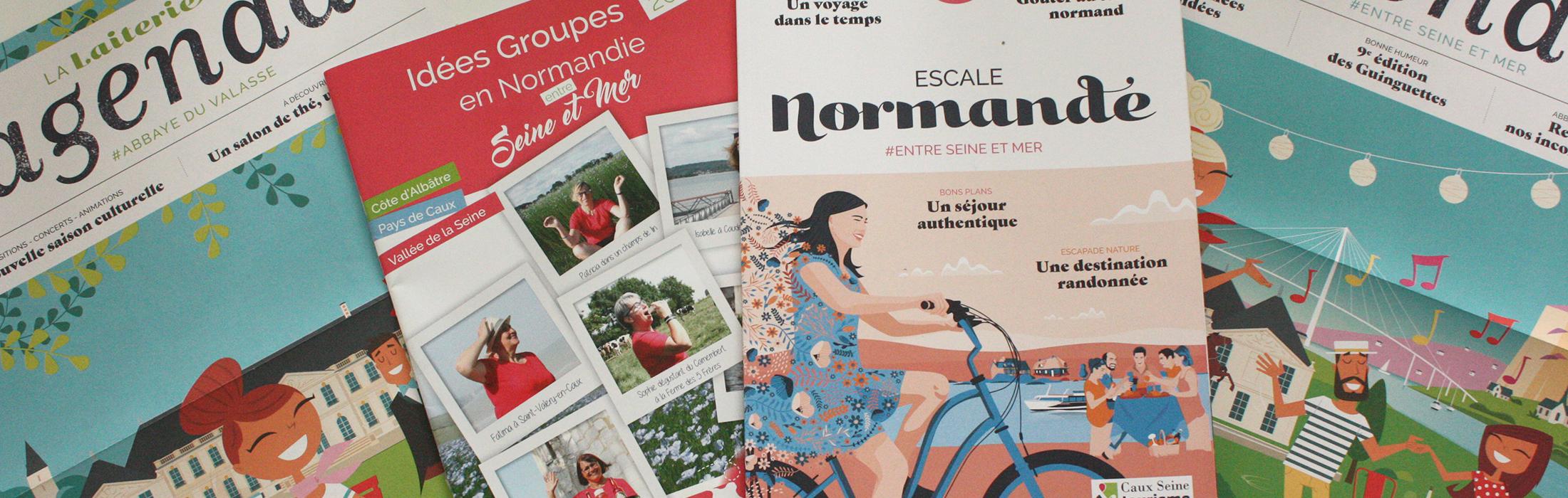 Découvrir le Pays de Caux Vallée de Seine - Version française.    Ce magazine enrichi de reportages, de témoignages et de photographies, s'adresse 1
